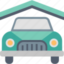 parking, car, hotel, lot, place, service, space icon