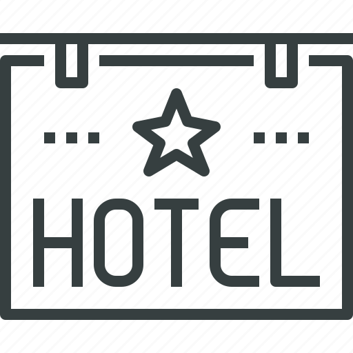 Hotel, sign icon - Download on Iconfinder on Iconfinder