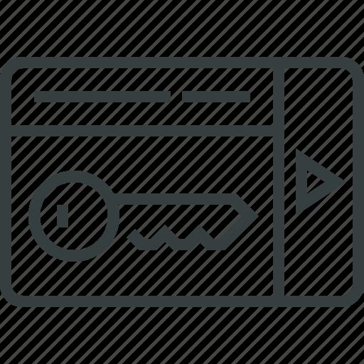 card, keylock icon