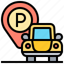 area, car, parking, traffic, zone