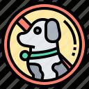 animals, forbidden, pet, prohibit, sign icon