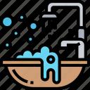 bathtub, shower, washing, clean, bathroom
