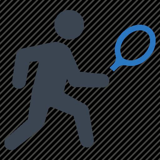 exercise, racket, sports, tennis icon