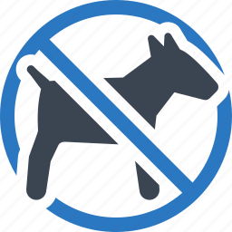 animal, dog, forbidden, no pets allowed, pet icon