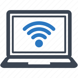 connection, internet, laptop, wifi, wireless icon