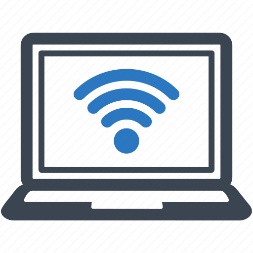 connection, internet, laptop, wifi, wireless icon