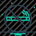 cigarette, forbidden, nicotine, no smoking, prohibition, smoke, tobacco icon