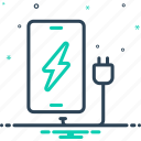 battery, device, electric, energy, phone charging, power, technology icon