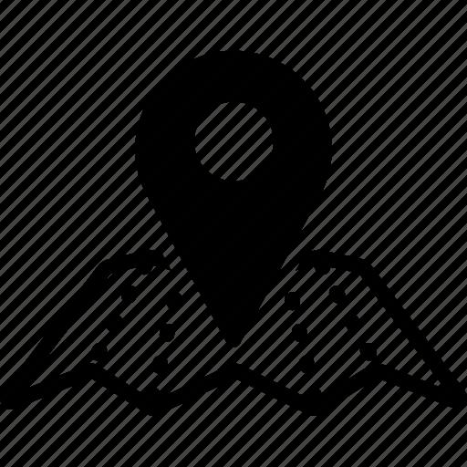 destination, gps, localization, map location, navigation, pointer, route icon