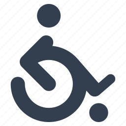 disable, handicap, health, help, man, medical, paraolimpics, people, person, wheelchair icon