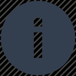 circle, information icon