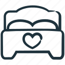 bed, bedroom, couple bed, double bed, make love, romantic icon