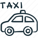 cab, car, taxi, transport, transportation icon