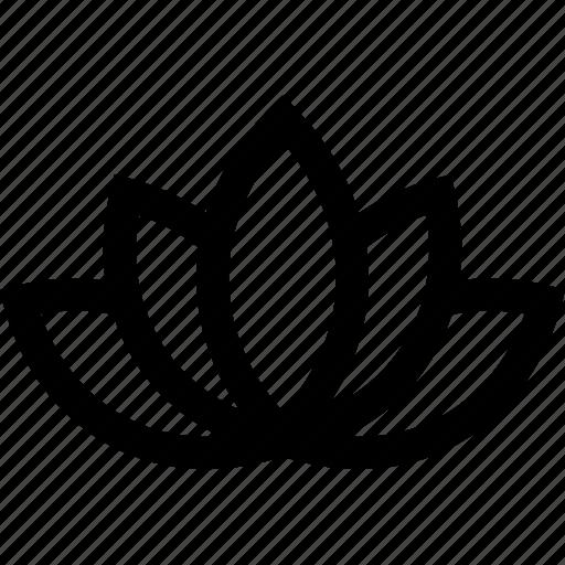 flower, lotus, spa, wellness icon