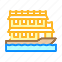 floating, boat, house, real, estate, bungalow