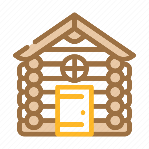 Wooden, hut, house, real, estate, bungalow icon - Download on Iconfinder
