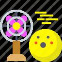 airflow, cool, fan, wind icon