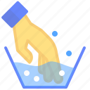 clothes, detergent, hand, wash, water icon