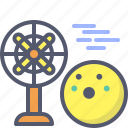 airflow, cool, fan, wind icon