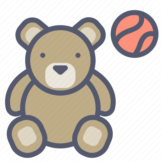 Ball, bear, kids, play, toy icon - Download on Iconfinder