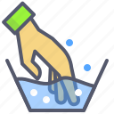 clothes, detergent, hand, wash, water icon