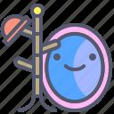 hanger, hat, mirror, reflex icon