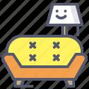 lamp, pendant, relax, retro, sofa icon