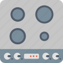 electric, hob, appliance, ceramic, cooking, induction, kitchen icon