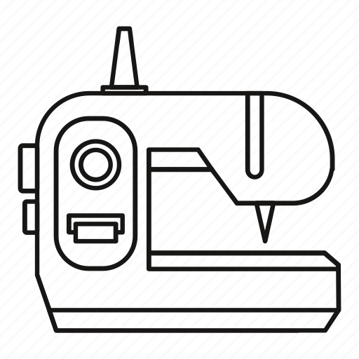 background, line, machine, outline, sewing, tool, white icon