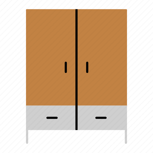 cabinet, case, cupboard, furniture, household, iterior, wardrobe icon