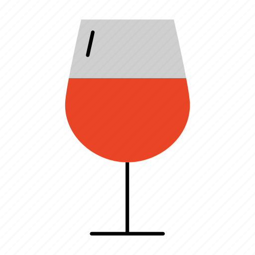 drink, glass, glass of wine, household, liquor, red wine, wine icon