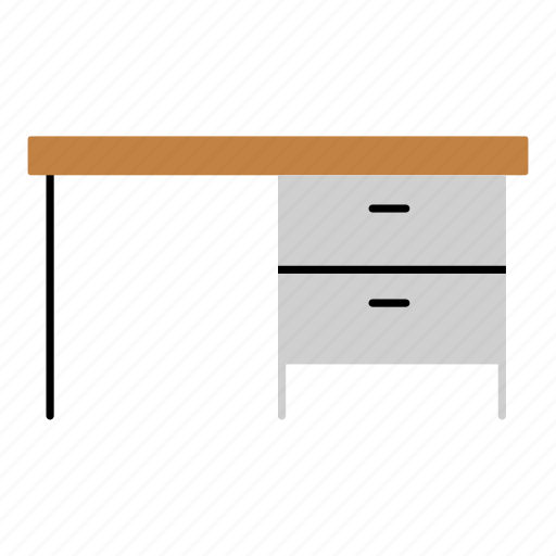desk, furniture, home, household, office, office desk, table icon