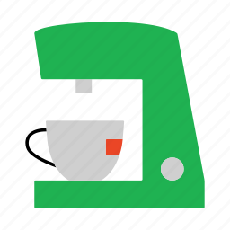 coffee, coffee machine, coffee maker, electric, hot drink, household icon