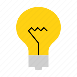construction, electrician, elektricity, household, lamp, light, lightbulb icon
