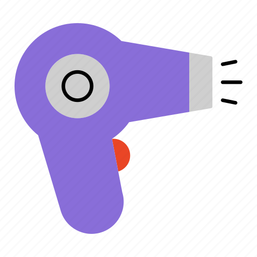 bath room, dryer, hair, hair care, hair dryer, household, tool icon