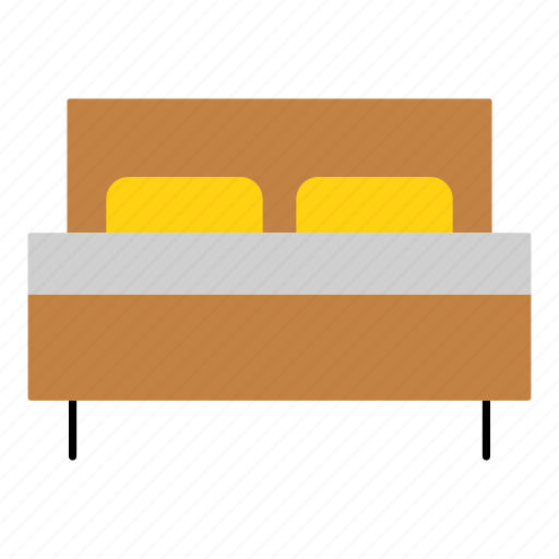 bed, bedroom, furniture, hotel, household, interior, sleeping icon