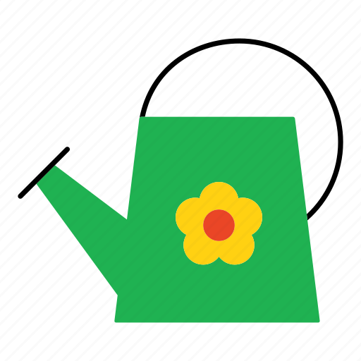 flower, garden, household, irrigate, water, watering, watering can icon