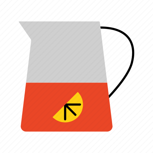 beverage, drink, household, lemonade, mug, pitcher, water icon