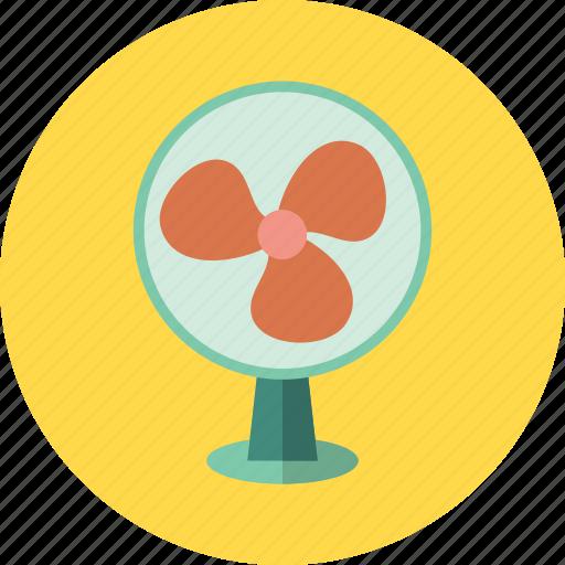 cooling, electric, fan, table, ventilate, ventilator, wind icon