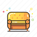 comfort, cozy, furniture, home, pillow, room, sofa icon
