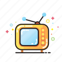 home, retro, television, tv programm, video icon