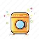 bathroom, clean, clothes, home, household, washing machine icon