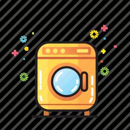 bathroom, clean, clothes, home, household, washing machine icon