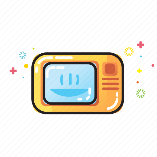 cook, electricity, equipment, home, kitchen, microwave, warm icon