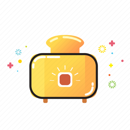 bread, cooking, food, home, kitchen, toaster icon