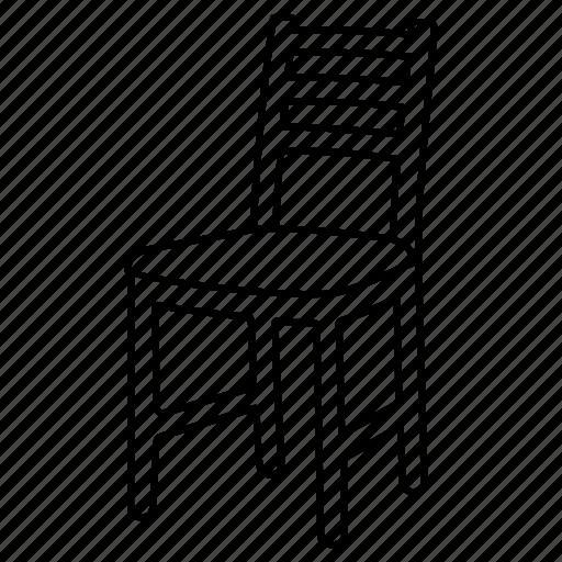 chair, kitchen, kitchen chair, seat, sit down, stool, wood icon