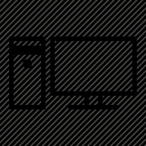 comuter, desktop, household items icon