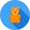 bear, cartoon, cute, soft, stuffed, teddy, toy icon