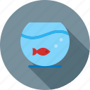 aquarium, bowl, decor, fish, goldfish, home, water icon