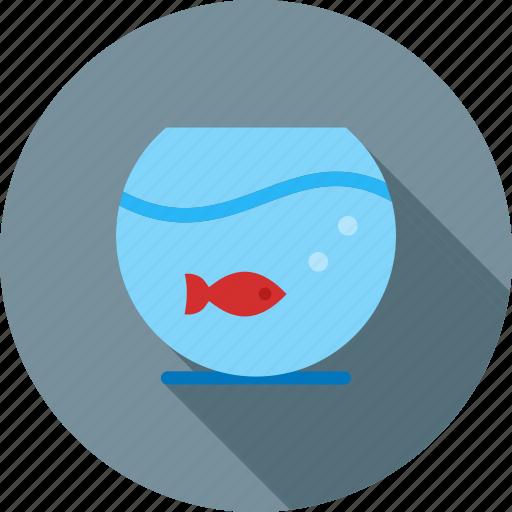 aquarium, bowl, decor, fish, goldfish, home, water icon